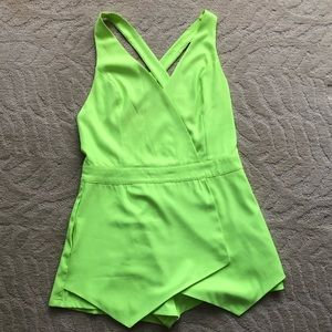AKIRA Neon Green Romper